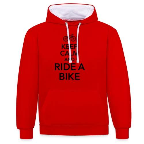keep calm and ride a bike Fahrrad Sattel Drahtesel - Contrast Colour Hoodie