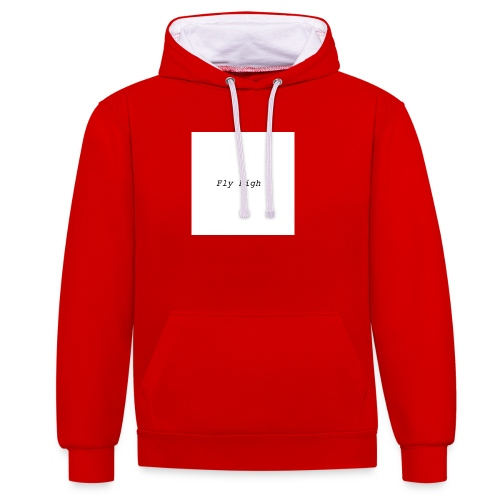 Fly High Design - Contrast Colour Hoodie