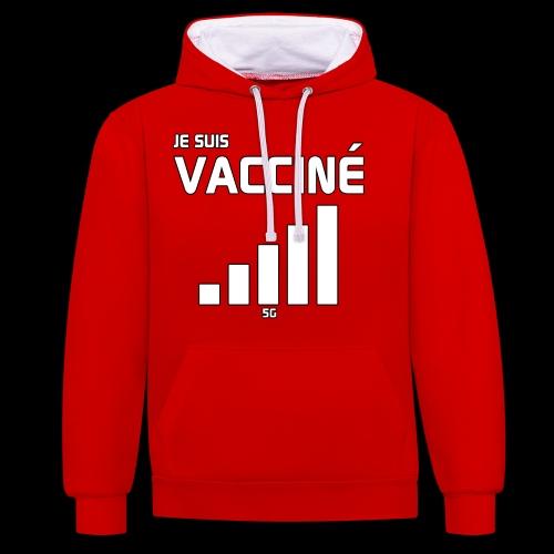 Je suis vacciné - Sweat-shirt contraste