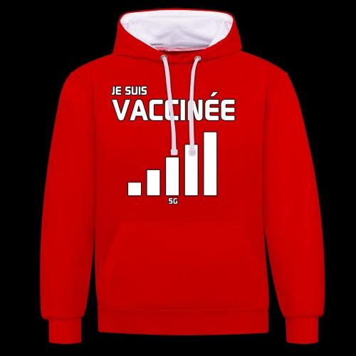 Je suis vaccinée - Sweat-shirt contraste