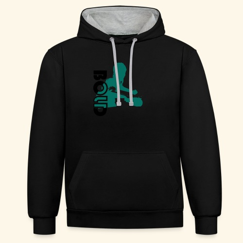 BOLD, table tennis championship ideal gift - Kontrast-Hoodie