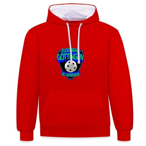 SCW Floorball Logo - Kontrast-Hoodie