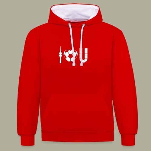 Dortmund I Love U - Kontrast-Hoodie