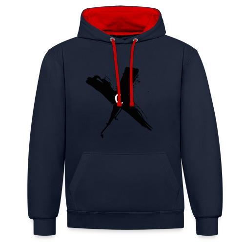 Cinnox Logo Kreuz - Kontrast-Hoodie