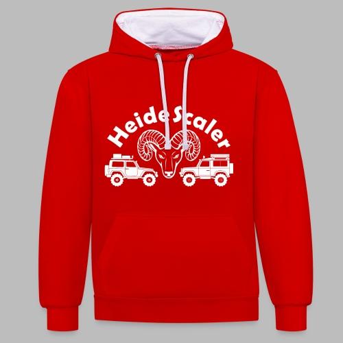 Heide Scaler white HQ - Kontrast-Hoodie