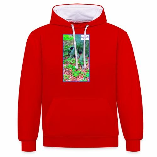 Natur Baum Wurzeln Maria 12 - Kontrast-Hoodie