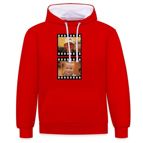 lente tess png - Contrast hoodie