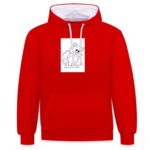 La Le Petit filon chat - Sweat-shirt contraste