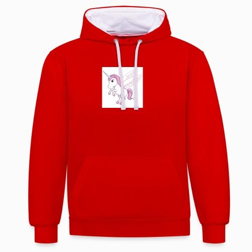 Petite licorne rose super mignonne!! - Sweat-shirt contraste