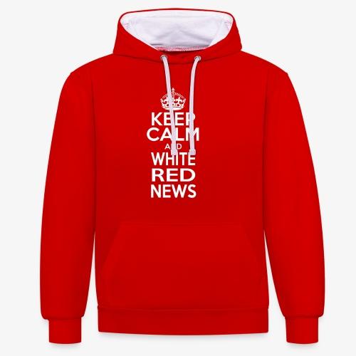 Tazza Rossa Keep Calm WRN - Felpa con cappuccio bicromatica