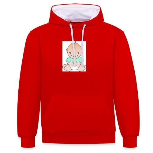 rompertje baby jongen - Contrast hoodie