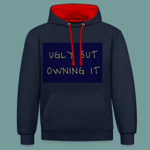 UGLY BUT OWNING IT - Contrast Colour Hoodie