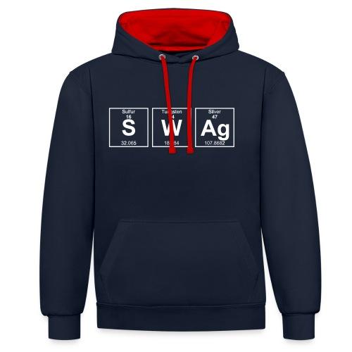 Periodensystem SWAG - Kontrast-Hoodie