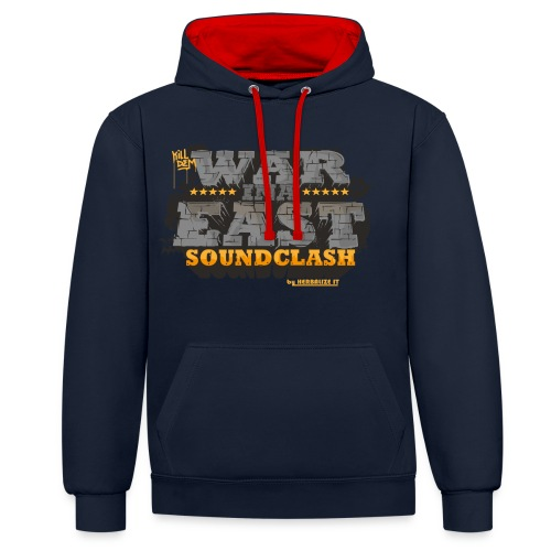 WAR INA EAST woman - Contrast Colour Hoodie