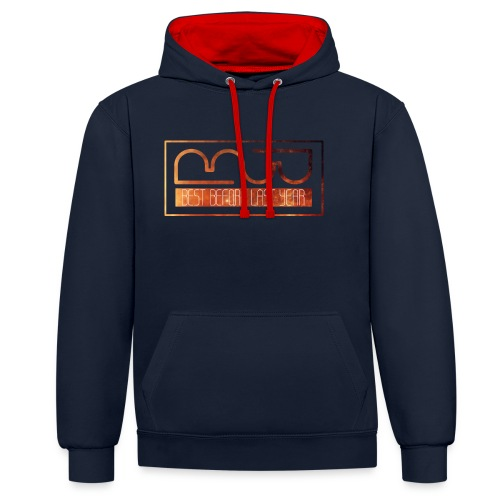 Cap logo Orange - Contrast Colour Hoodie