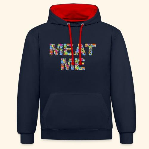 Meat ME - Kontrast-Hoodie