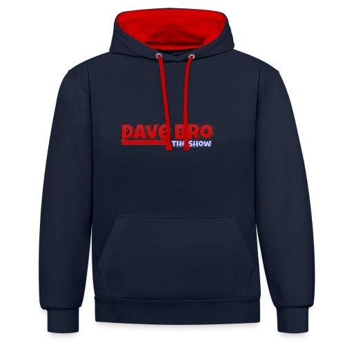 Dave Bro Logo - Kontrast-Hoodie