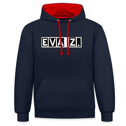 EVA Z. - Felpa con cappuccio bicromatica