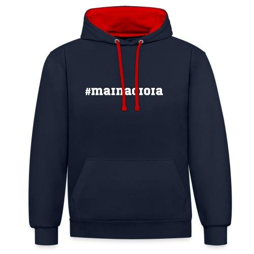 #mainagioia T-shirt - Felpa con cappuccio bicromatica