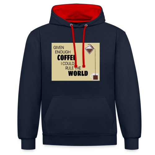 Coffee Champion - Contrast Colour Hoodie