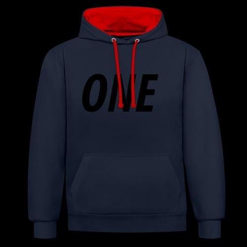 WEAREONE x LETTERS - Contrast hoodie