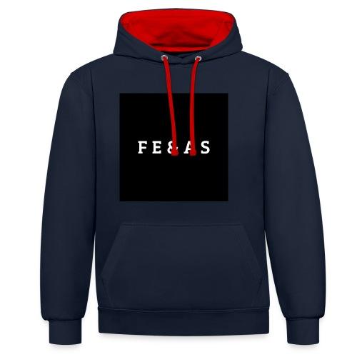 FEAS WHITE T-SHIRT - Contrast hoodie