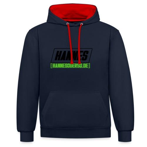 Hannes Logo - Kontrast-Hoodie