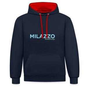 MILAZZO - Felpa con cappuccio bicromatica