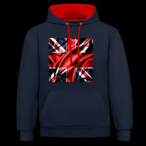 Union Jack design - Contrast Colour Hoodie