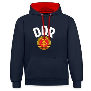 DDR - German Democratic Republic - Est Germany - Kontrast-Hoodie