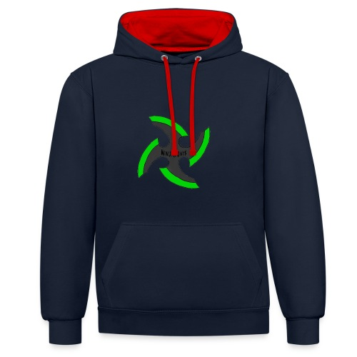 black-ronin-throwing-star-jpg_1 - Contrast Colour Hoodie