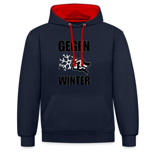 Gegen Winter - Kontrast-Hoodie