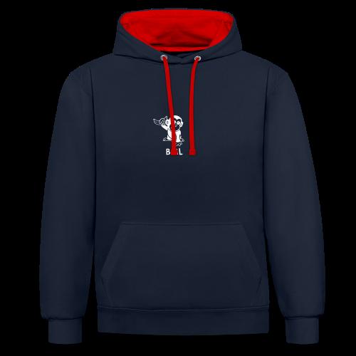 BestMonkeyLearning Logo - Contrast Colour Hoodie