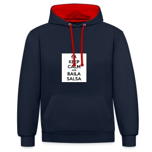 keep-calm-and-baila-salsa-41 - Felpa con cappuccio bicromatica