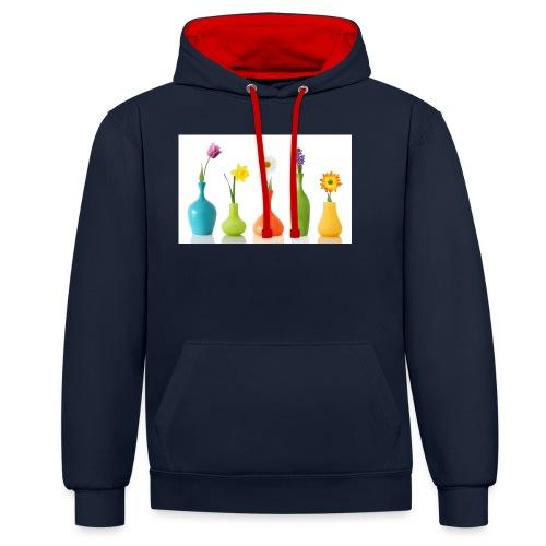 bloempotje - Contrast hoodie