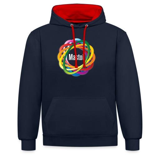 Mastok's Logo - Kontrast-Hoodie