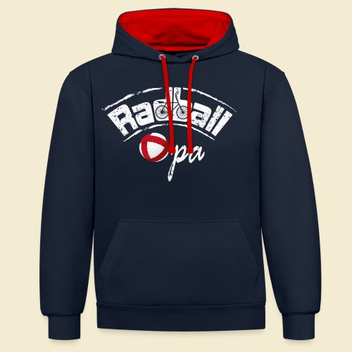 Radball   Opa - Kontrast-Hoodie