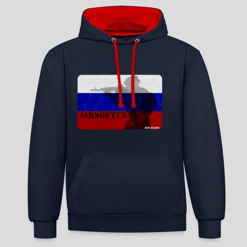 AIRSOFTER RUS - Sudadera con capucha en contraste