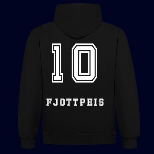10 Fjottpeis - Kontrast-hettegenser