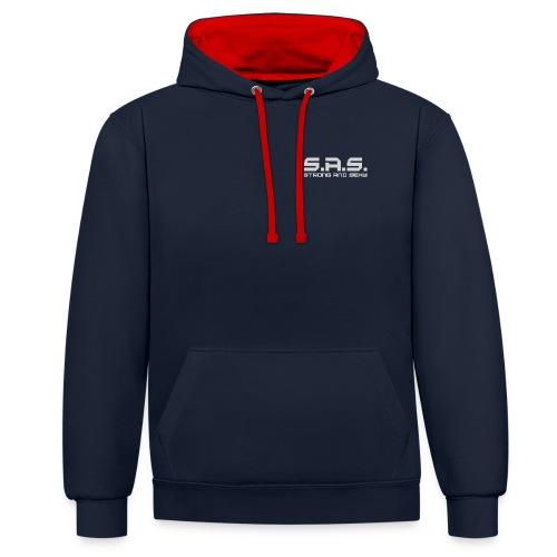 sas grey png - Contrast hoodie