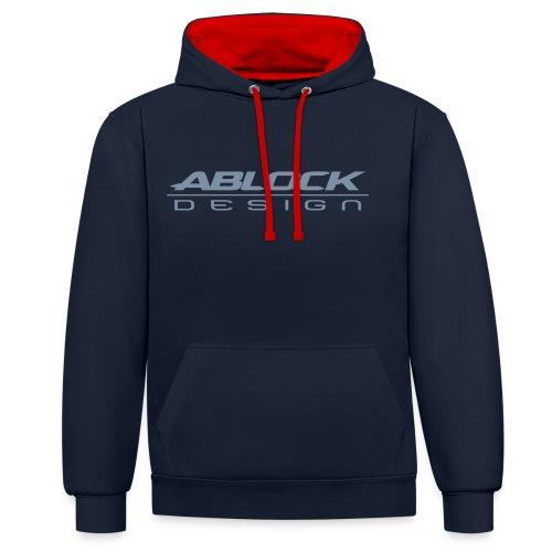 ABLOCK Design blanc - Sweat-shirt contraste