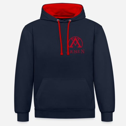 arsen logo finalvector - Kontrast-Hoodie