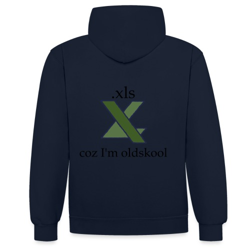 xls - coz i'm oldskool [DFSPR] - Contrast Colour Hoodie