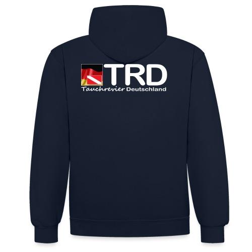 Tauchrevier Deutschland TRD newStyle - Kontrast-Hoodie