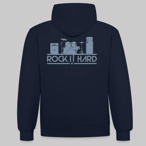 rock it hard - Kontrast-Hoodie