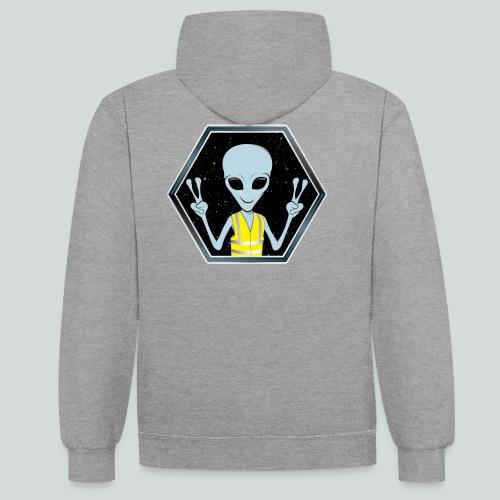 Extraterrestre Gilet jaune - Sweat-shirt contraste