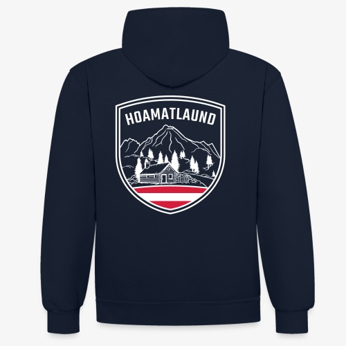 Hoamatlaund logo - Kontrast-Hoodie