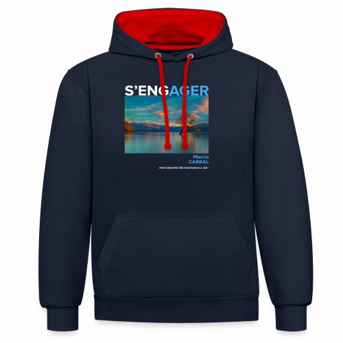 1 Achat = 1 Don à la Fondation Surf Rider Europe - Sweat-shirt contraste