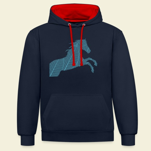 Cheval feuille - Sweat-shirt contraste
