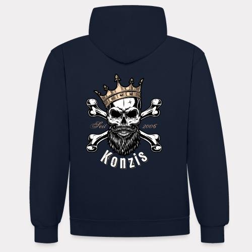 Skull Bones Logo - Kontrast-Hoodie